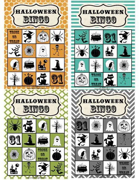 printable halloween bingo cards with pictures halloween bingo free download