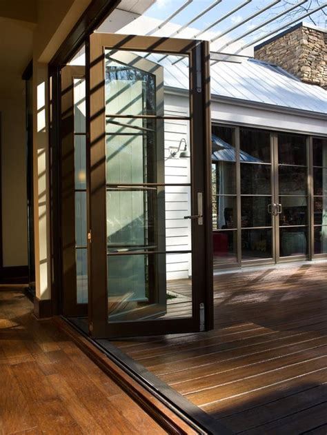 large folding glass doors amazing large folding glass doors hgtv green home 2012