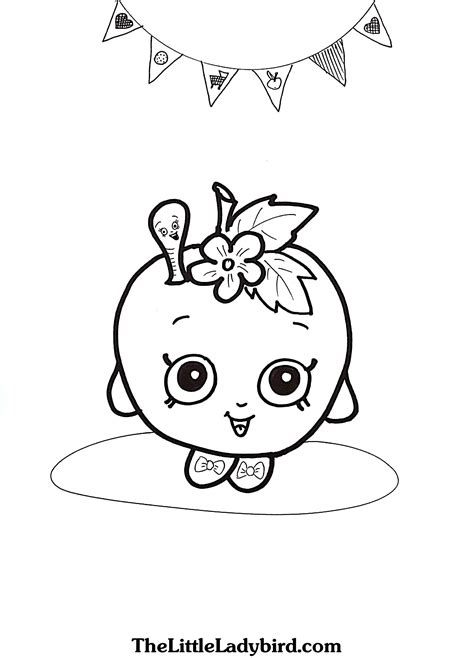 shopkins coloring pages apple blossom free apple blossom shopkins coloring page
