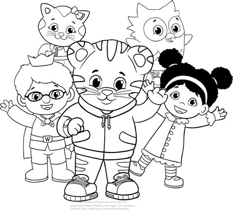 daniel tiger coloring page home sketch coloring page