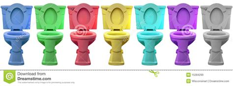 Multi Color Toilet Commode Head Porcelain Throne Stock