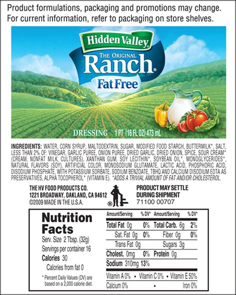 calories in light ranch salad dressing the original ranch 174 free valley 174