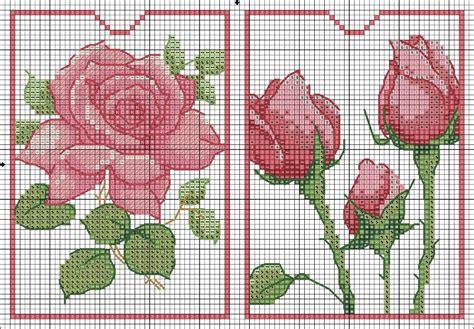 ricamo fiori delicate a punto croce punti e spunti