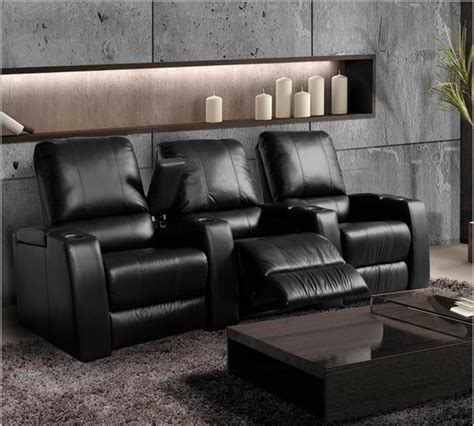 magnolia home theater seating black or brown leather