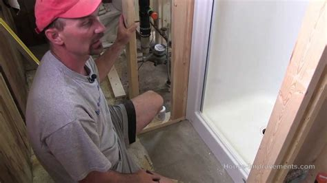 one install how to install a fiberglass shower