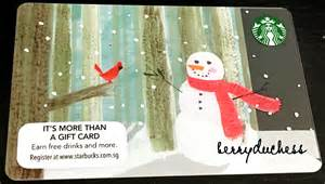 Starbucks Gift Card Picture - christmas starbucks gift card photo world christmas