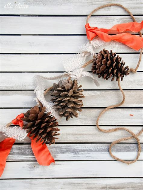 diy decorations with pine cones pine cones and leaves incorporating nature in modern design