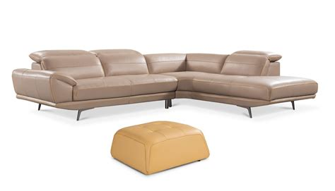 taupe leather ottoman granger taupe leather sectional ottoman adjustable