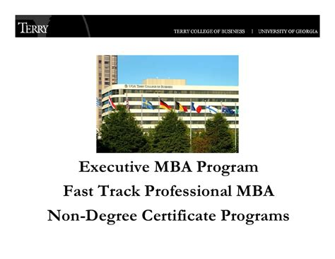 Fast Mba Program by Uga Terry College Of Business Executive Programs