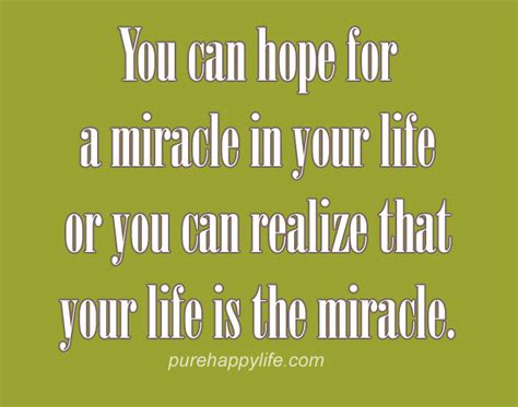 The Miracle Quotes Quotes About And Miracles Quotesgram