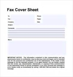 Personal Fax Cover Sheet by Sle Personal Fax Cover Sheet 11 Exles Format