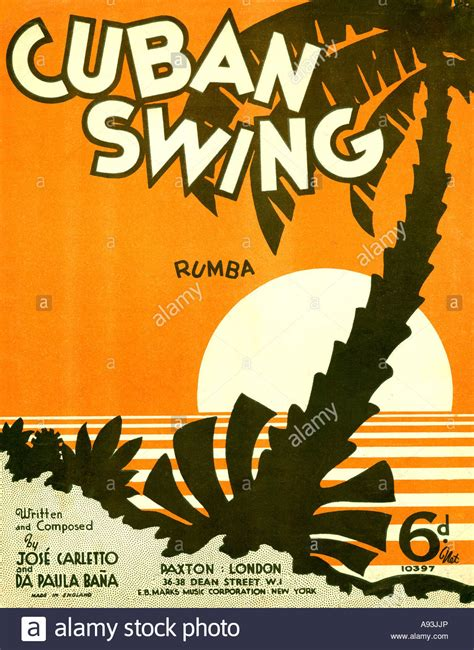 swing covers of pop songs cuban swing music sheet cover from 1937 for a rumba dance