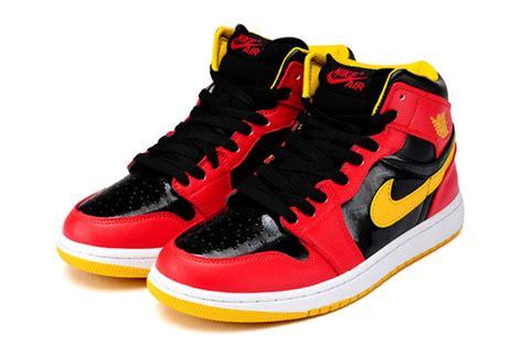 air jordan  sneakers red black yellow   www