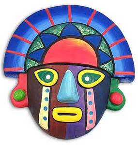 Home Decor In Kenya Hand Crafted Colorful Ceramic Tumi Mask Sunset Colors