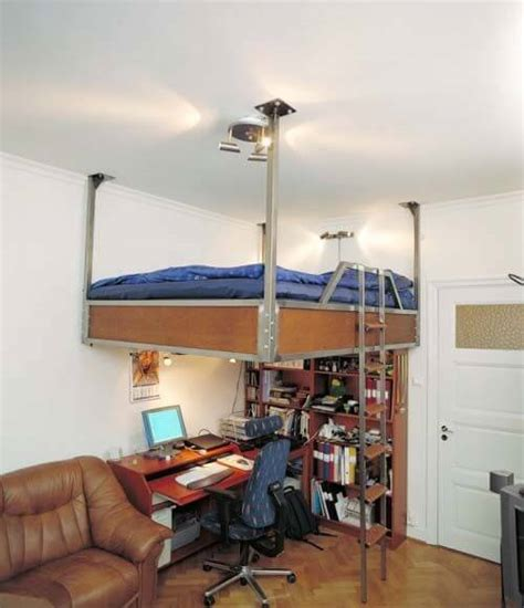 beds that hang from the ceiling 12 awesome beds in tiny spaces apartment geeks