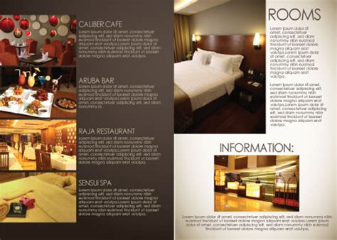 hotel brochure design templates 17 hotel brochure design freecreatives