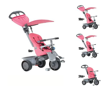 smart trike recliner 4 in 1 with raincover new pink smart trike recliner stroller 4 in 1 smartrike