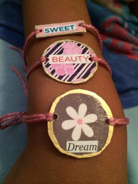 recycled gift cards friendship bracelets recyclart