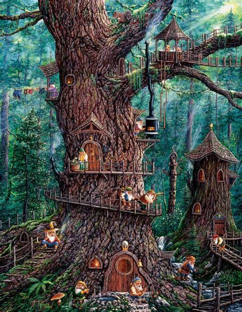 forest gnomes jigsaw puzzle puzzlewarehouse com
