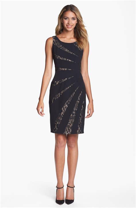 sleeveless lace sheath dress papell lace inset sleeveless sheath dress for