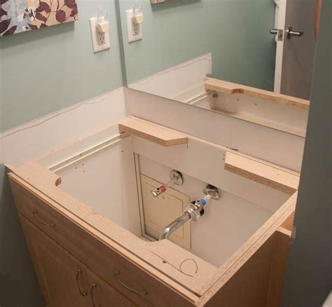 How To Install Bathroom Vanity by Installing A Bathroom Vanity Sink