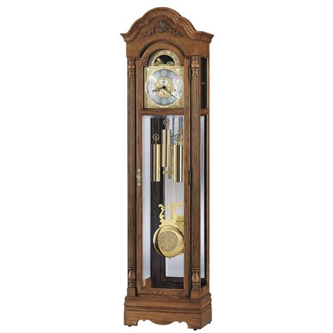 grandfather clock howard miller oak grandfather clock 610985 gavin