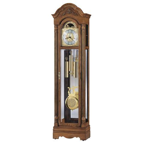 grandfather clock howard miller oak grandfather clock 610985 gavin westminster chime