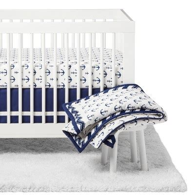 Fave Baby Bedding From Target by The Peanutshell Crib Bedding Set Sail Away 5pc Navy