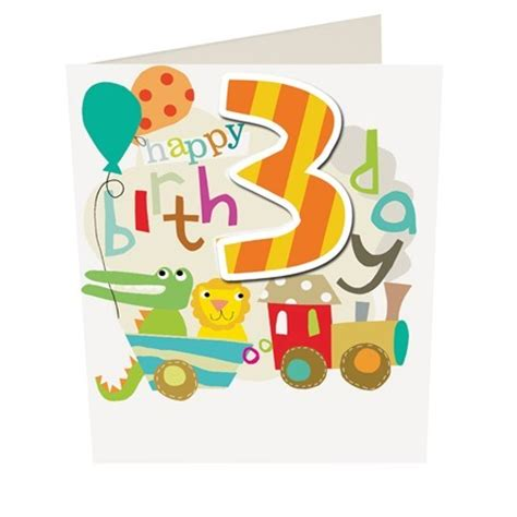 Birthday Quotes For A 3 Year Boy Cards Caroline Gardner Happy Birthday Boy Age 3