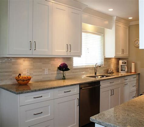 best backsplash for white cabinets quot white shaker cabinets like backsplash cabinet lighting