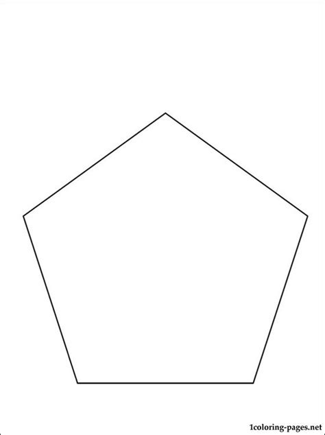 pentagon coloring page coloring pages