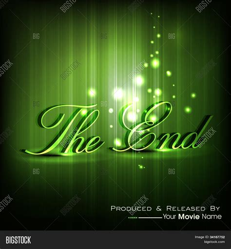 Or Ending End Moving Ending Screen Eps 10 Vector Photo Bigstock