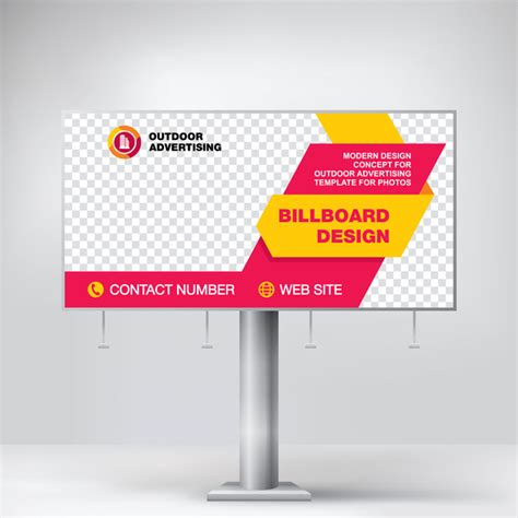 outdoor banner design templates business outdoor advertising billboard template vector 02