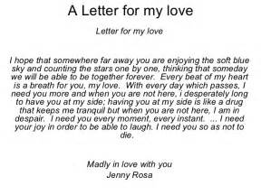 a letter for my love