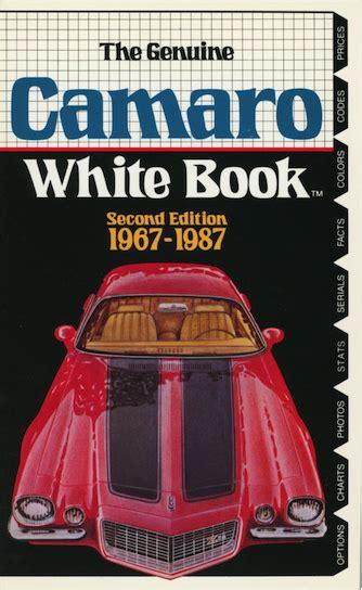 the official site of the corvette black book camaro