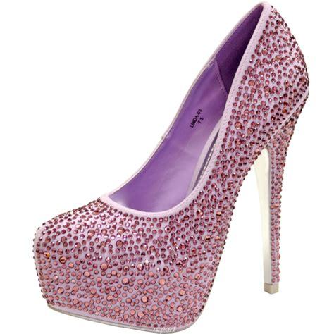 lilac shoes evening stilettos blink rhinestones prom