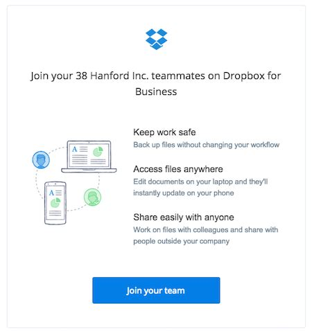 dropbox new account join your team business user guide dropbox