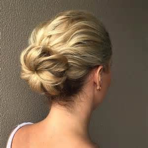 easy buns for shoulder length hair 54 easy updo hairstyles for medium length hair in 2017