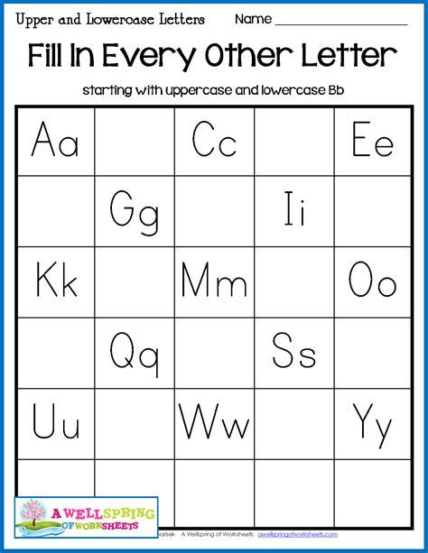 missing letters worksheets alphabet letter
