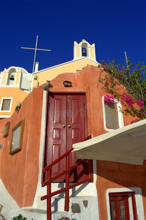 casa e chiesa casa e chiesa leggiadramente a oia santorini fotografia