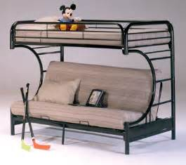 metal twin futon bunk bed