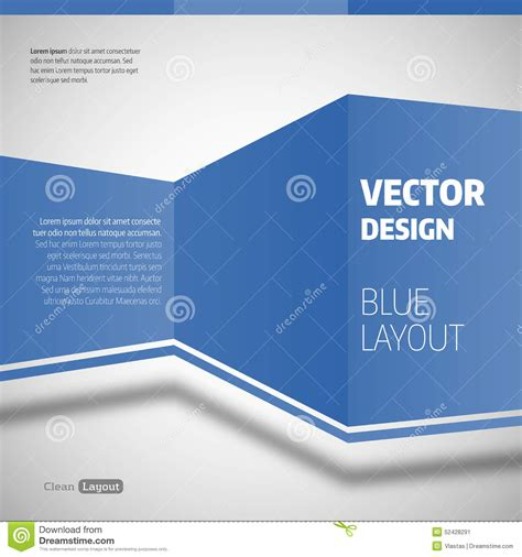 blue layout vector blue layout stock vector image 52428291
