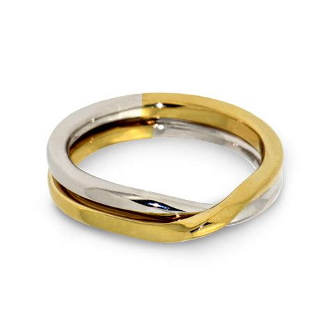 love knot  tone wedding band   gold
