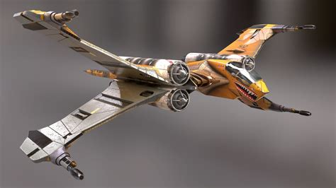 fighter space superiority fighter  asset cgtrader