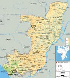 maps of physical map of congo ezilon maps