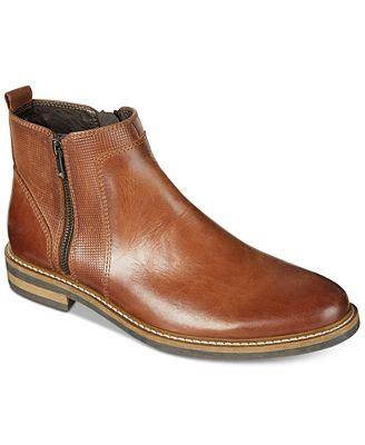 macys mens polo boots alfani s jayce textured chelsea boots created for