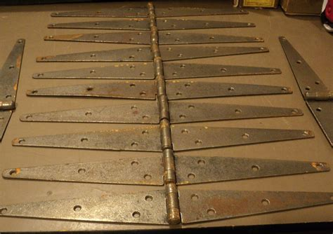 Large Barn Door Hinges Antique Vintage Lot Of 12 Large Barn Door Hinges Ebay