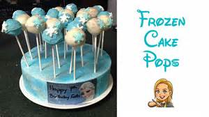 making disney frozen inspired cake pops youtube
