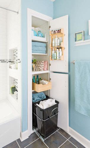 creative ideas for an organized bathroom closets