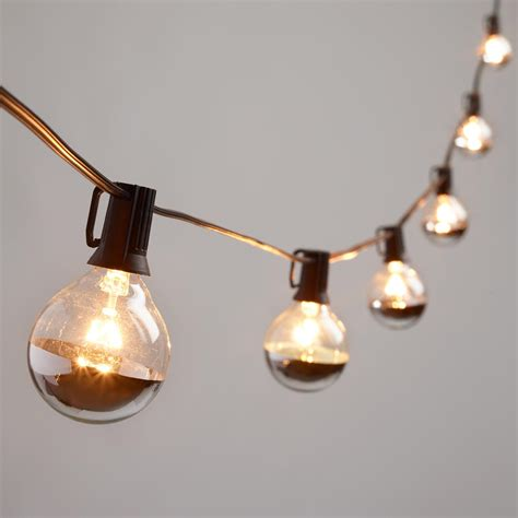 bulb string lights silver dipped glass orb 20 bulb string lights world market